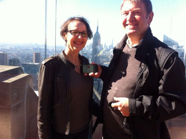 Jean-Claude et sa chérie au Top of the Rock - Septembre 2013
