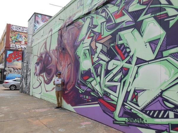 Paul, graffeur amateur, et fan de 5Pointz - Juillet 2013