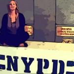 Delphine sur un bloc NYPD - Septembre 2011