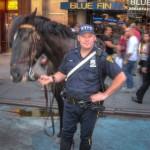 Un policier du NYPD et son cheval - Laurent ( septembre 2010)