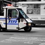 Voiturette NYPD vue par Pocahantas