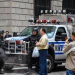 NYPD devant Wall Street