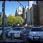 Des voitures du NYPD prises le 2 mai 2013, à Colombus Circle par Ghis