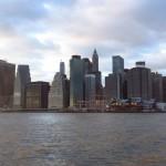 Vue sur Manhattan au couché du soleil – décembre 2012 – Leslie
