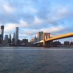 Vue sur Manhattan et le Brooklyn Bridge au couché du soleil – décembre 2012 – Leslie