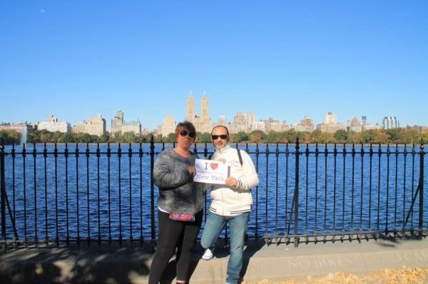 Carine & Stéphane au Reservoir de Central Park - Octobre 2013