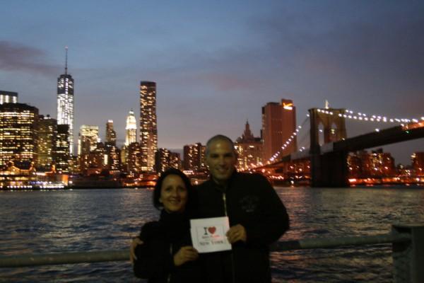 Stéphanie et Antoine au Brooklyn Bridge Park - Septembre 2013