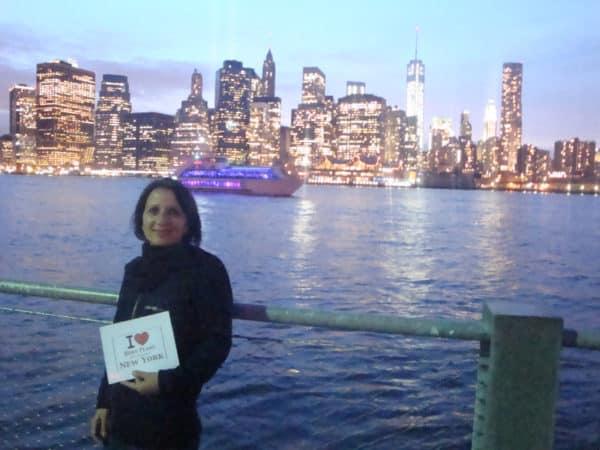 Stéphanie au Brooklyn Bridge Park - Septembre 2013