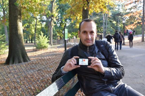 Jérome à Central Park - Octobre 2013