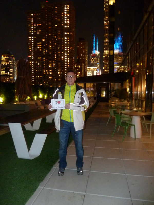 Serge sur la terrasse du Yotel Hotel - Novembre 2013