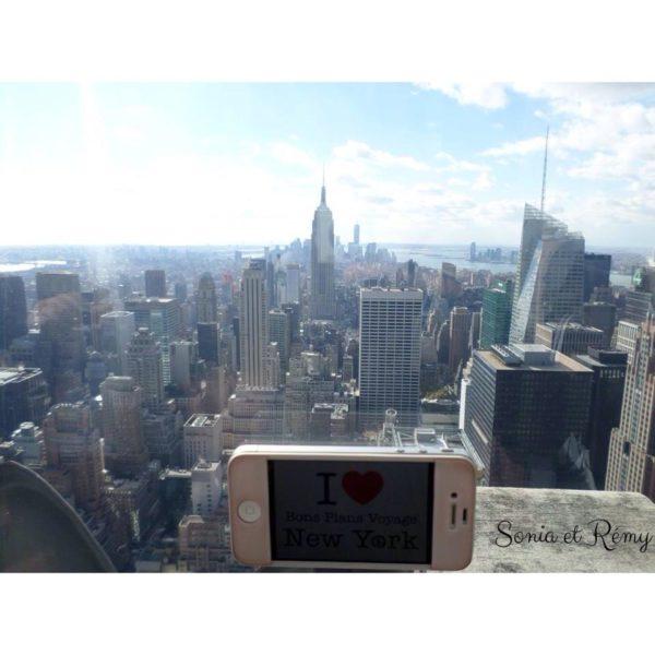Sonia & Rémy pour une dédicace en haut du Top Of The Rock NYC - Décembre 2013