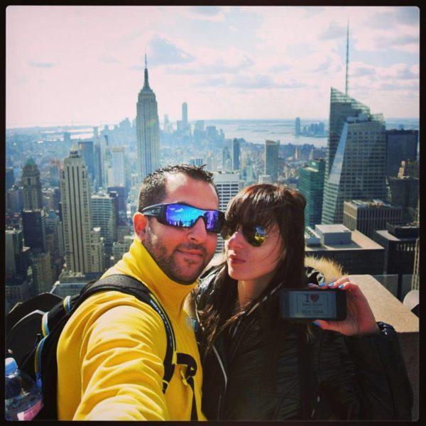 Vio VD et son chéri au Top of the Rock pour une jolie dédicace - Octobre 2013