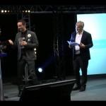 Golden Blog Awards - Sur scène lors de la remise du trophée