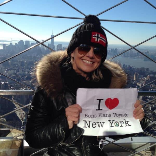Peggy pour une très jolie dédicace en haut de l'Empire State Building - Décembre 2013