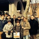 """Visite Guidée BPVNY """"Soho, Little Italy, Chinatown & Greenwich Village Tour"""" avec Marc Lièvremont, ancien joueur et entraineur du XV de France de rugby - 20 Décembre 2013"""