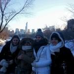 Yolaine, Mélanie, Amandine et Cindy (de gauche à droite) à Central Park