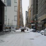 Après une nuit de neige ici sur la 60ème rue - Décembre 2009 (Alex les bons plans)