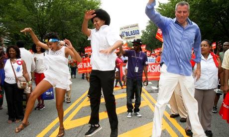 Bill de Blasio Democratic mayoral candidate, New York 2013