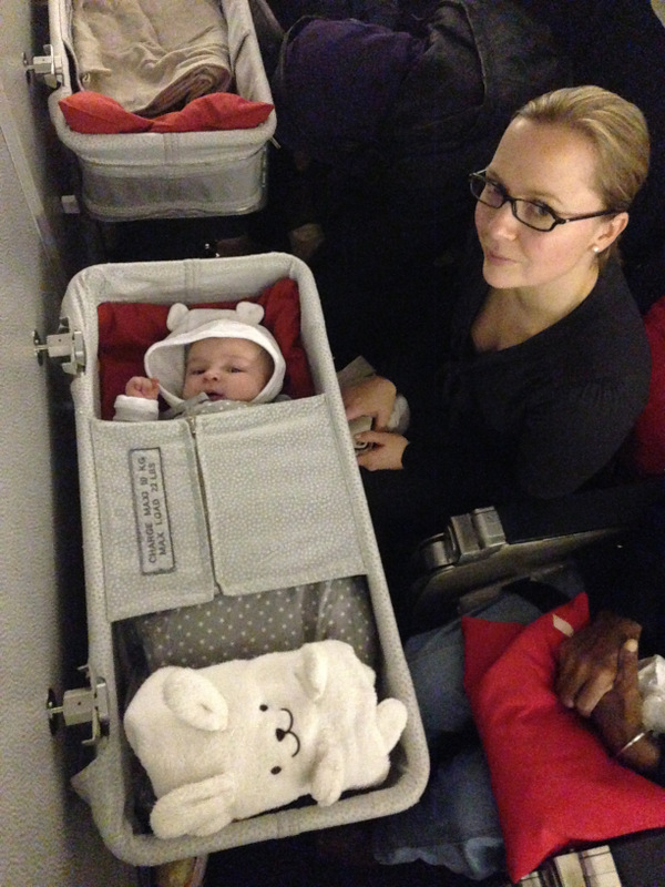 transport bebe avion