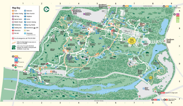 Bronx-Zoo-Map