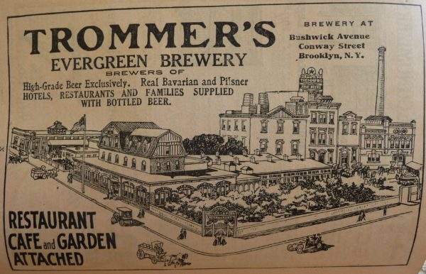 1910-World-Almanac-Trommers-Evergreen-Brewery-P1060724