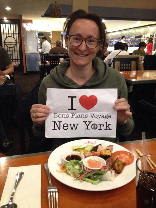 Dédicace de Christèle dans un de mes restaurants préférés à NY : Ichiumi !!!
