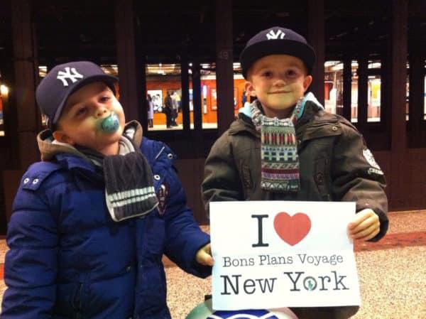 Dédicace de Jules et Francois, les petits de Coralie lors de leur séjour à NY en janvier 2015