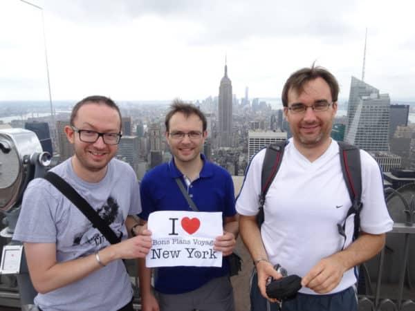 Dédicace de Hervé, Nicolas et Guillaume depuis le Top of the Rock !