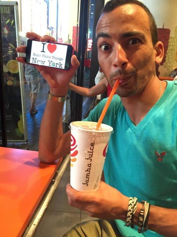 Dédicace d'Imad au Jamba Juice pour se rafraichir après la chaleur d'hier !!