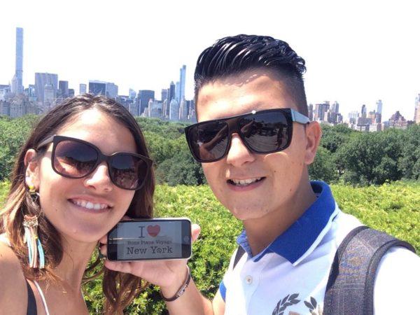 Dédicace de Morgane et Julien sur le Rooftop du MET