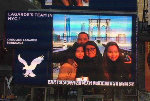 Selfie familial - Time Square