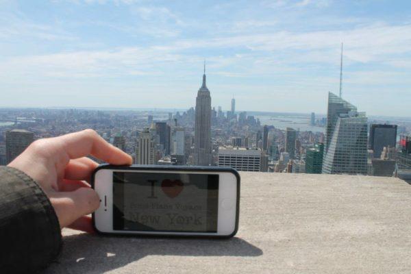Dédicace de Loic sur le Top of the Rock, la semaine dernière