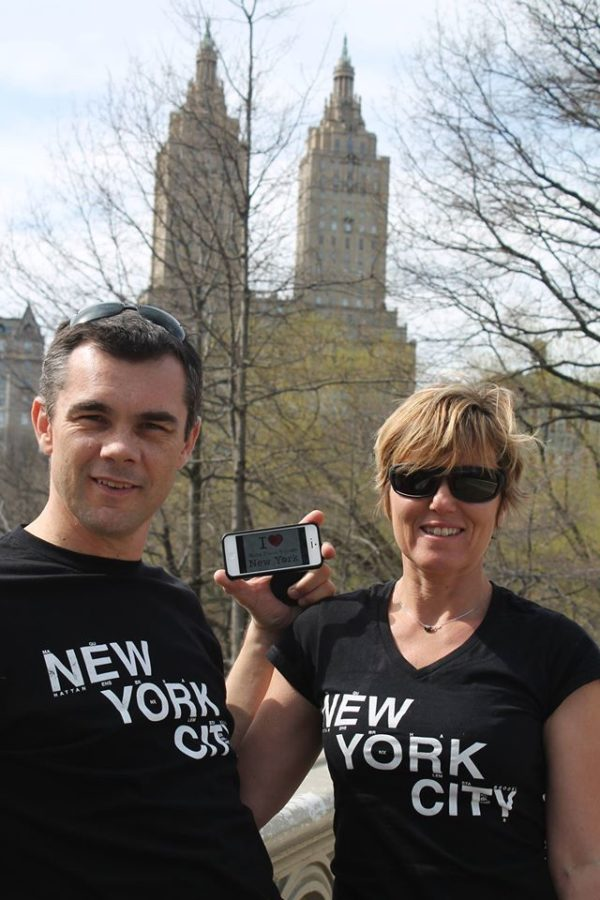 Dédicace de Loic et Sandra devant l'Eldorado Building près de Central Park, la semaine dernière