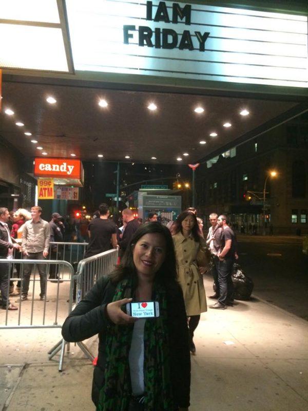 Jolie dédicace de Marie juste avant le concert d'IAM à New York la semaine dernière !!!