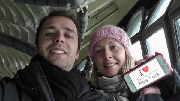 Dédicace de Nicolas et Emmanuelle dans la couronne de la Statue de la Liberté - Janvier 2015