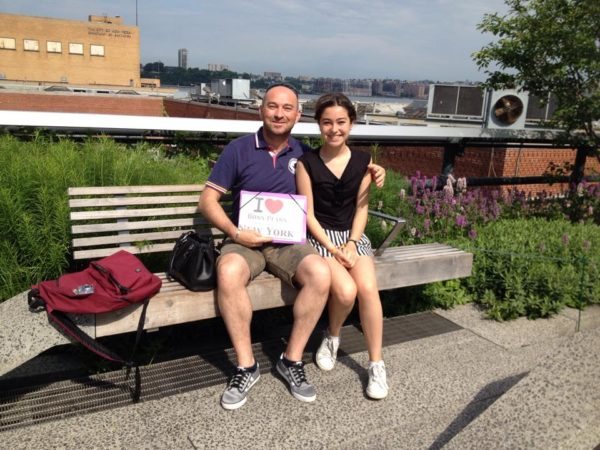 Dédicace de Pascal et sa fille sur la High Line - Juin 2015