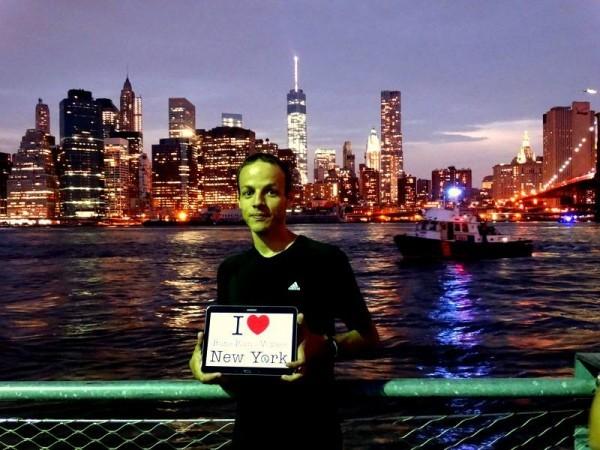 Dédicace de Smaïn sur Brooklyn Bridge Park.