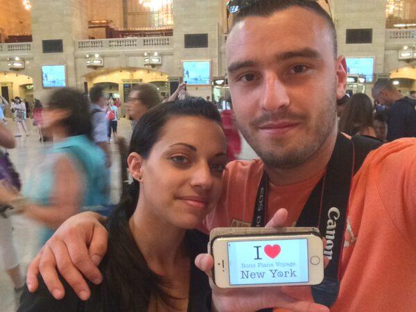 Dédicace de William et Clémence à Grand Central, l'été dernier