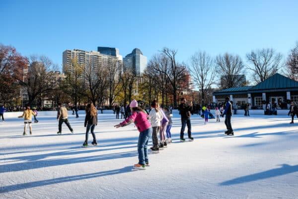 boston common patinoire ice skating